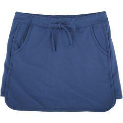 Silverwear Womens Solid Pocket Tulip Hem Skort