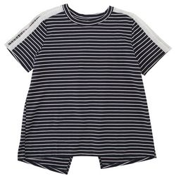 Silverwear Womens Striped Crochet Trimmed Top