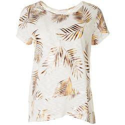 Coral Bay Womens Palms Short Sleeve Shirt