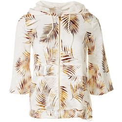 Womens Palm Frond Zip Jacket
