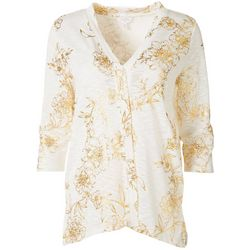Coral Bay Womens Floral Open Cardigan