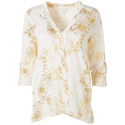 Womens Floral Open Cardigan