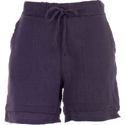 Silverwear Petite Solid Pocketed Cotton Shorts