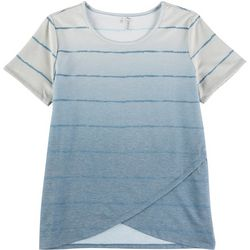 Silverwear Womens Ombre Striped Layered Top
