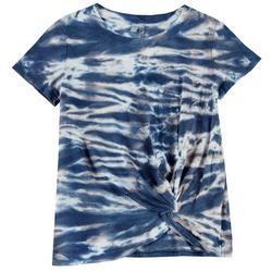 Womens Tie Dye Knotted Top