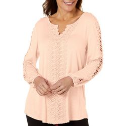 Coral Bay Womens Crochet Detail Top