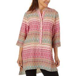Coral Bay Womens Batik Inspired Print Tunic Top