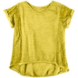 Kaktus Womens Solid Bright Top With Cuffed Sleeves