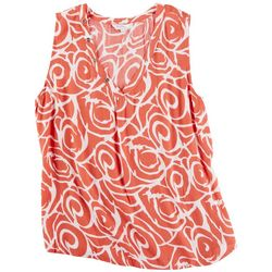 Coral Bay Womens Spirals V-Neck Top