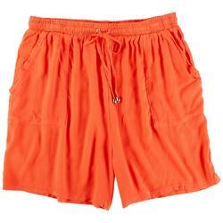 Womens Crepon Shorts