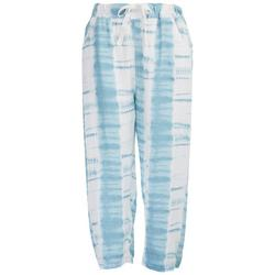Womens Tye Dye Beach Day Elastic Waist Pants