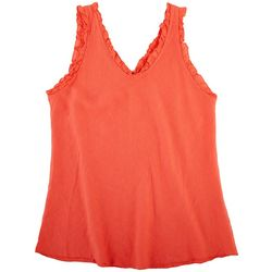 Kaktus Womens Linen Shocking Summer Sleeveless Top