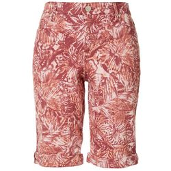 Bandolino Womens Mandie Floral Bermuda Shorts