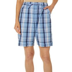 Erika Womens Elisa Plaid Shorts