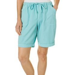 Erika Womens Solid Pull On Shorts