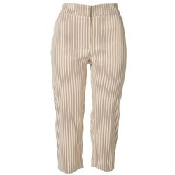 ATTYRE Womens Praline Striped Capris