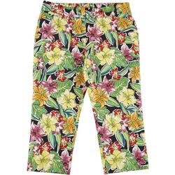 Womens Tropical Cropped Bengaline Trousers