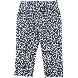 ATTYRE Womens Dotted Print Crop Pants