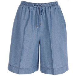 Coral Bay Womens The Everyday Denim Pull On Shorts