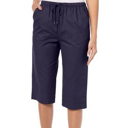 Coral Bay Womens Drawstring Twill Capris