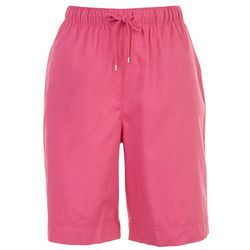 Coral Bay Womens Drawstring Solid Shorts
