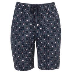 Womens Hearts Bermuda Shorts
