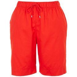 Coral Bay Womens Summer Twill Drawstring Shorts