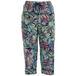 Coral Bay Womens Tropical Linen Capris