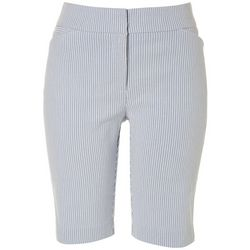 ATTYRE Womens Pin Stripe Bermuda Shorts