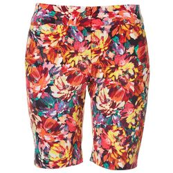 ATTYRE Womens Floral Print Bermuda Shorts