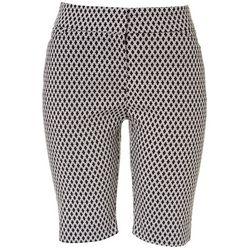ATTYRE Womens Geometric Print Bermuda Shorts