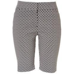 Womens Geometric Print Bermuda Shorts