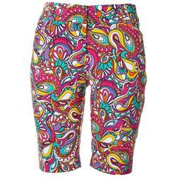 ATTYRE Womens Paisley Bermuda Shorts
