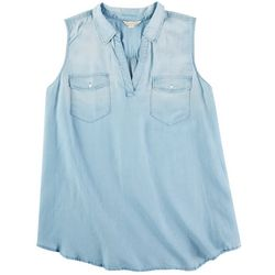 Khakis & Co Womens Sleevless Denim Top