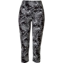 Khakis & Co Womens Tropical Print Capri Leggings