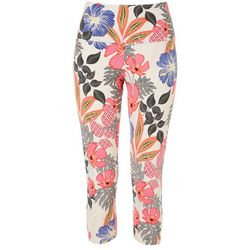 Khakis & Co Womens Suave Floral Capri Leggings