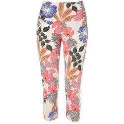 Womens Suave Floral Capri Leggings