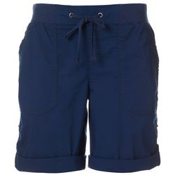 Khakis & Co Womens 10 Solid Poplin Shorts