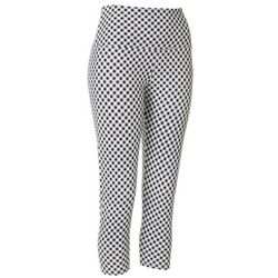 Khakis & Co Womens Gingham Print Capri Leggings