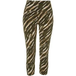 Khakis & Co Womens Paisley Stripe Print Capri Leggings