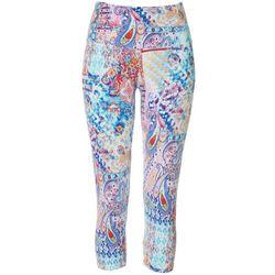 Khakis & Co Womens Paisley Print Capri Leggings