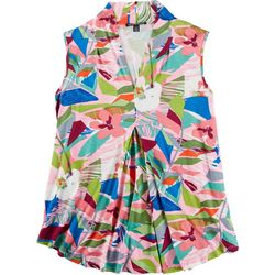 Cable & Gauge Womens Tropical Sleeveless Shirt