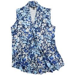 Cable & Gauge Womens Print Sleeveless Top