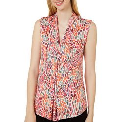 Cable & Gauge Womens Painted Dots Print Sleeveless Top