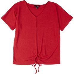 Cable & Gauge Womens Solid Top Tie Detail