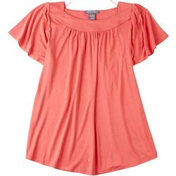 Kate and Mallory Womens Solid Casual Top