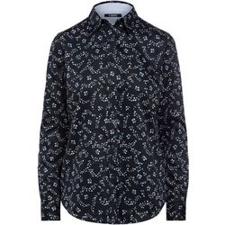 Chaps Womens Floral Collared Long Sleeve Shirt