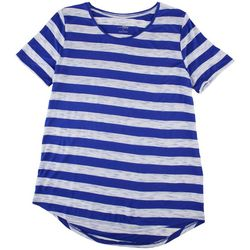 Como Blu Womens The Perfect Tee Stripe Short Sleeve T-Shirt