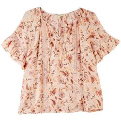 Womens In Love Neck Tie Lace Top