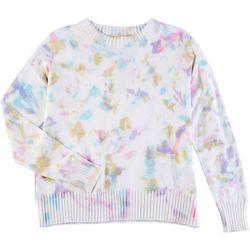 Philosophy Womens Tie Dye Printed Sweater
